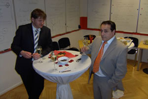 Fotos vom business speed dating